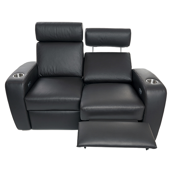 Palladio Napoli Love Seat Home Cinema Seating Black Reclined