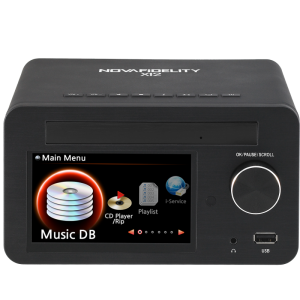 NOVAFiDELITY X12 Network Audio Player & CD Ripper with Integrated Amplifier Front
