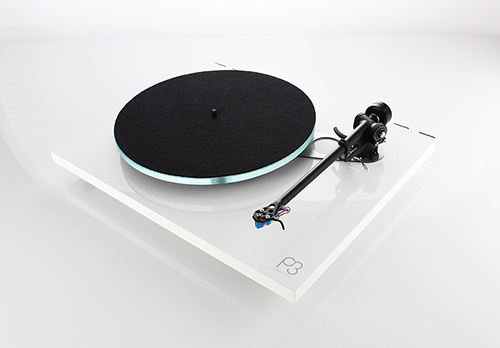 Rega Planar 3 2016 Gloss White Angled with Mat