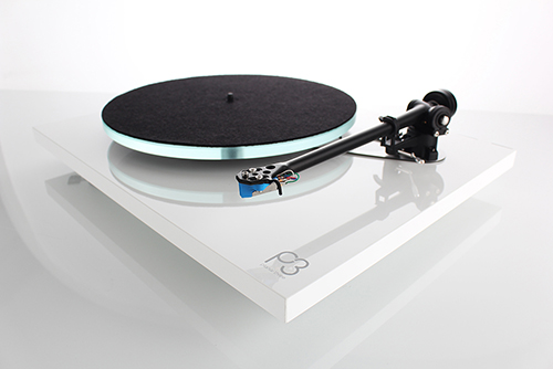 Rega Planar 3 2016 Gloss White with Mat Offside