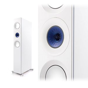 KEF Reference 3 Floorstanding Speakers Blue Ice White