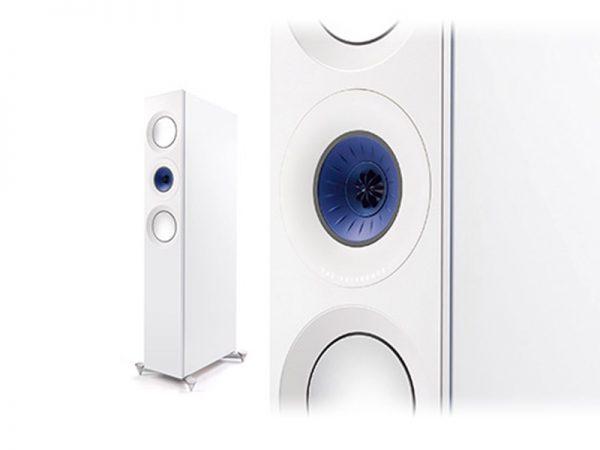 KEF Reference 3 Floorstanding Speakers Blue Ice White