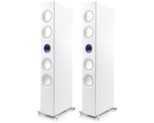 KEF Reference 5 Floorstanding Speakers Blue Ice White