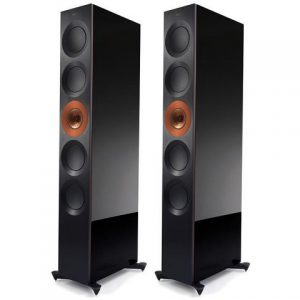 KEF Reference 5 Floorstanding Speakers Copper Black Aluminium