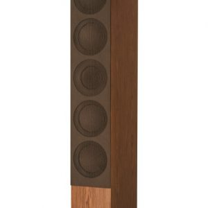 KEF R11 Floorstanding Loudspeaker Walnut With Grille