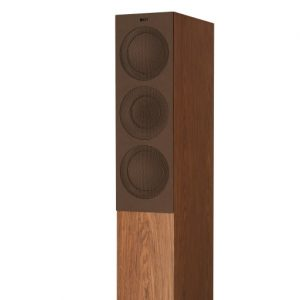 KEF R7 Floorstanding Loudspeaker Walnut With Grille