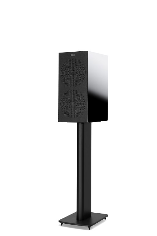 KEF R3 Bookshelf Speaker Black With Grille
