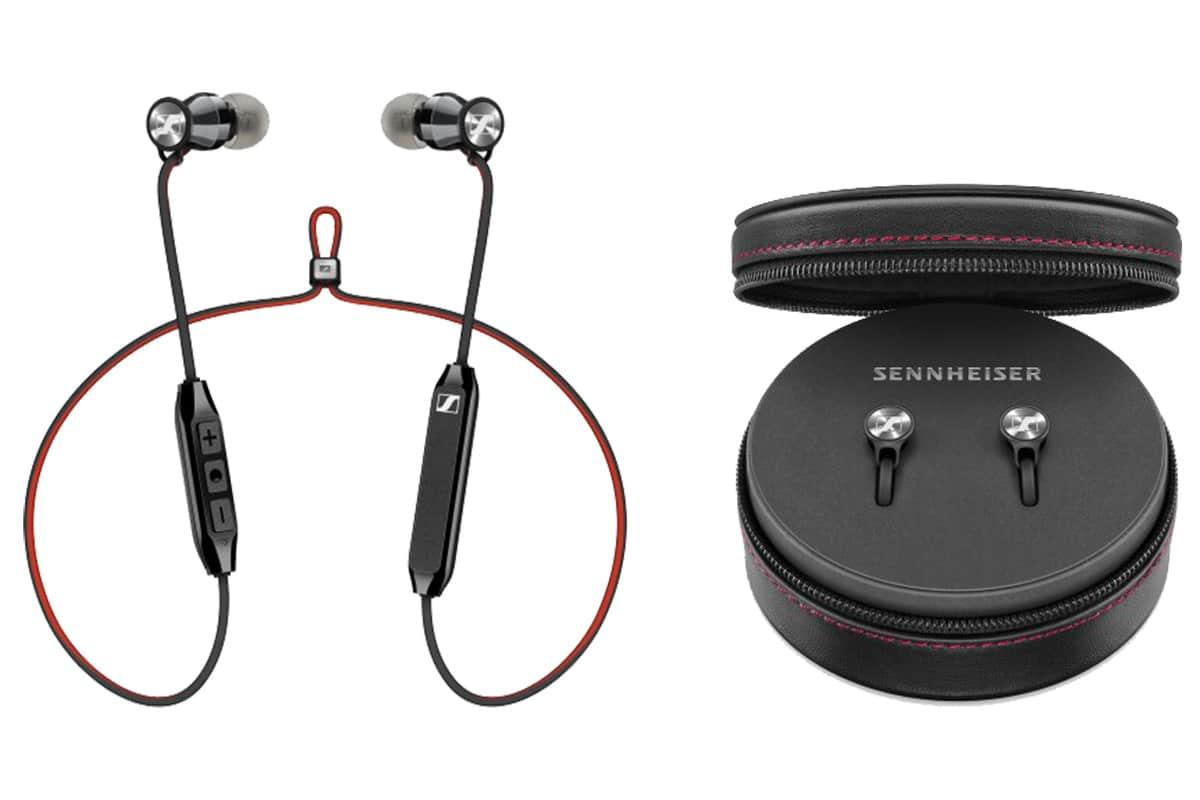 Black//Red Sennheiser HD 1 Momentum In-Ear Wireless Bluetooth Headphones