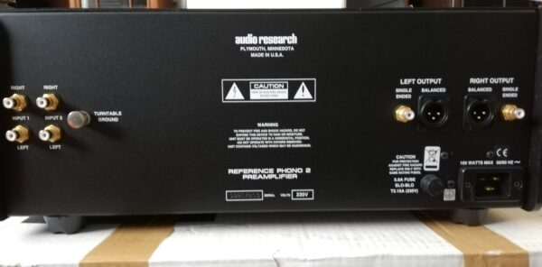 Audio Research Reference Phono 2 rear